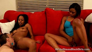 White girl lick black mistress feet - White submissive pleases his black mistress