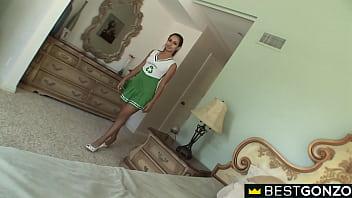 BestGonzo –  Latina Cheerleader Jynx Maze Is Hungry For Her Neighbor's Cock