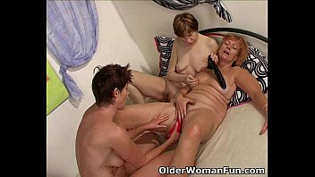 Xxxxx older women lesbian Hot grannies licking and kissing in lesbian threesome