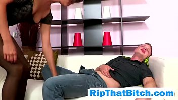 Russian bitch Kimberly Nutter gets her holes fucked
