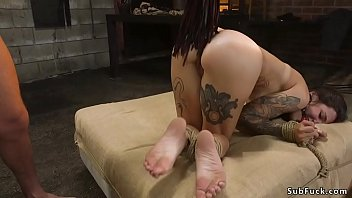 Alt brunette rough anal banged bdsm