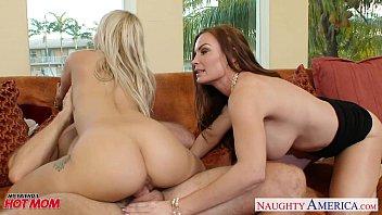Naughty moms Diamond Foxxx and Marsha May share cock thumbnail