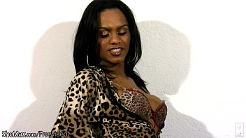 Black plump shemales Perfect doll with balls tugs her black cock in leopard dress