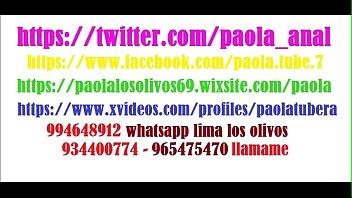 PAOLA DE LOS OLIVOS 994648912 NUEVO whatsapp - 934400774 Y 965475470 - MOVIENDO MI CULITO PARA TI BB ESTOY EN AV UNIVERSITARIA CON AV TOMAS VALLE SMP video nuevo set 2019 www.paolalosolivos69.wixsite.com/paola