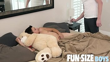 FunSizeBoys - Austin Young woken up for hot bareback sex by Daddy Wolf image