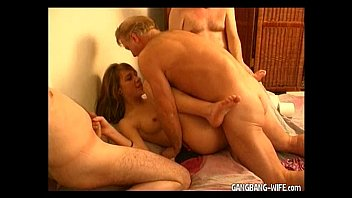 Teen amateur slut gangbanged by older guys