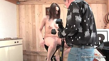 Pretty brunette deep sodomized for her amateur french casting preview image