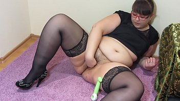 A strict teacher also likes to masturbate, bbw in stockings makes herself fisting.