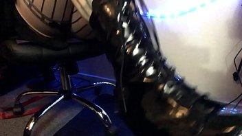Worship Mistress Alace's Sexy Stockings & Shiny Boots Heels