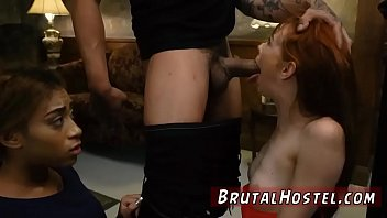 Male slave punished and brunette brutal anal dildo Sexy youthfull