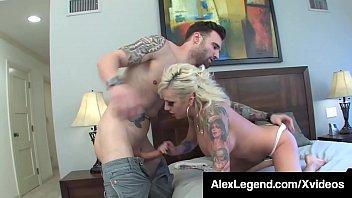 Fat Cock Alex Legend Stuffs His Dick Into Vyxen Steele!