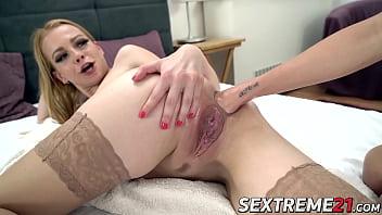 Sluty Rebecca Black gets some deep and creamy anal fisting