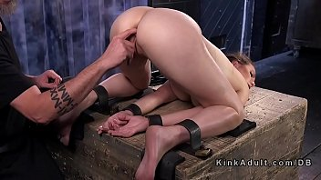 Babe in back be nd bondage position cunt vibed tion cunt vibed