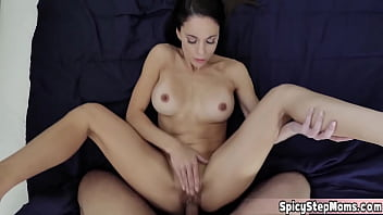 Hot MILF stepmother Eva Long has her pussy on fire