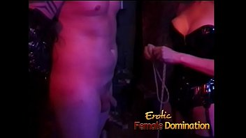 Dominant babes join forces to dominate a helpless guy in the dungeon