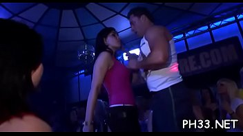 Yong girls drilled from back by dark waiter at the play ground