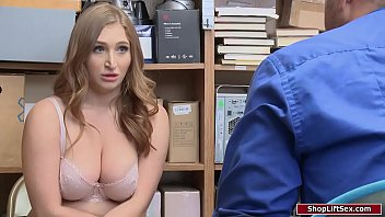 Reporter caught naked Officer fucks busty redhead shoplifter