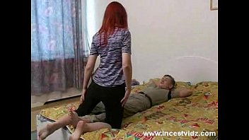 Redhead russian mom gets fucked on bed