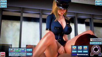 big tits blonde police woman gets fucked in the ass and cummed inside