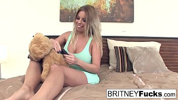 Alison And Britney Amber Use Their New Vibrating Teddy Bear