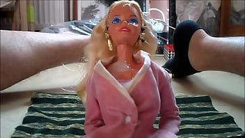 Vintage 1959 barbie doll Cum on barbie face