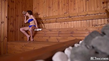 Blowjob Babe Veronica Morre Discovers Glory Hole In Sauna