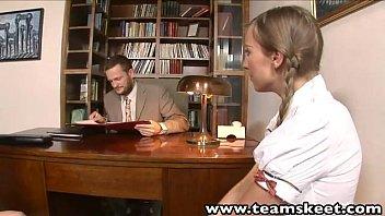 Teamskeet European Schoolgirls Mina And Morgan Threesome Sex Punishment