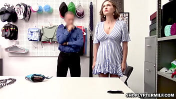 Perverted officer makes a deal of fucking this shoplifter milf