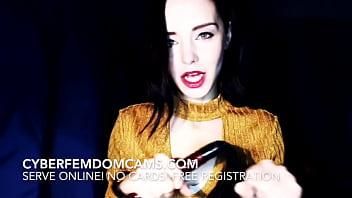 Strict Femdom Mistress Punishes Pain Slave On Cam