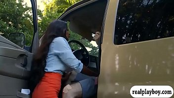 Massive tits ghetto pounded in the van