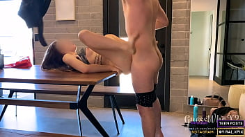 TEEN (18) FUCKED ON A TABLE! INTENSE SEX AFTER WORKOUT thumbnail