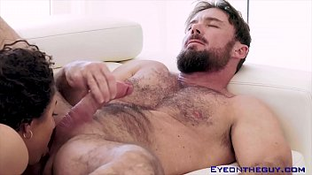 Guy puts his head in vagina Justin magnum gets his cock and balls sucked before fucking a babe