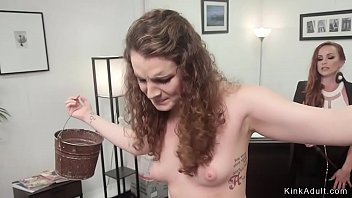 Lesbian intern ass whipped in office
