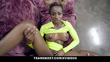 TeamSkeet – Busty Black Teen Sucks A Huge White Cock