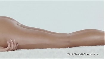 Oiled exotic beauty pounded by masseurs BBC - 69VClub.Com
