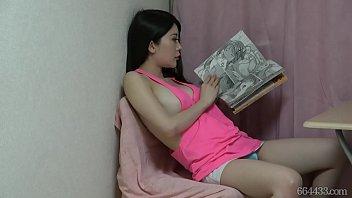 Hidden cam under the desk naked&masturbation Megumi Meguro