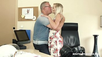 Old boss takes advantage of horny teen secretary