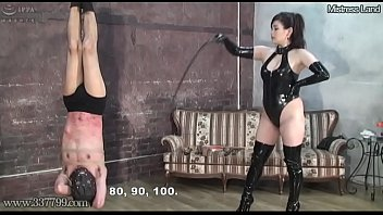 Japanese BDSM Punishment of Upside Down Masochist Slave