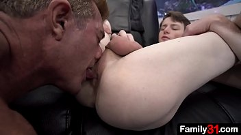 """Stepdad stuffs his cock inside the s.'s ass, barebacking him passionately <span class=""""duration"""">6 min</span>"""