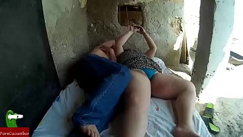 Fucking hard fat woman behind in a house in ruins CRI017