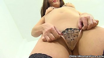 Mature blondes 40 plus pictures - English milf kitty cream teases us with a slow striptease