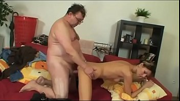 Young bitch fucking with a fat mature man video