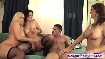 Muscular young waiter with big cock pounding three MILFst-hd-1