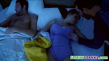 Step Son Touching His Mom While Sleep - FamilySpanks.com