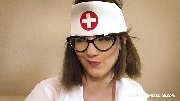 Hospital nurse blows old patient