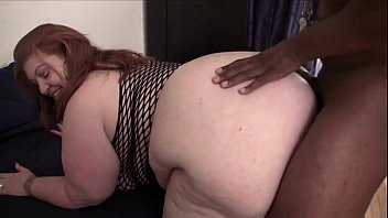 Interracial fat blonde