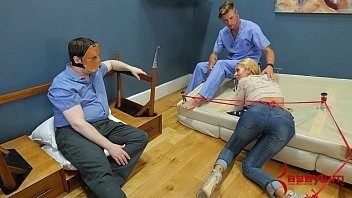 Barbara dare gangbang Rough anal punishment and piss facial for big ass blond