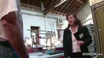 German MILF Mom in Stockings Seduce to Fuck Public pornhub video