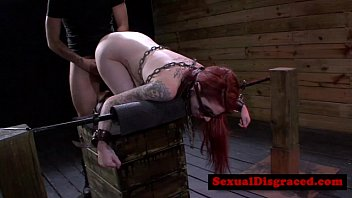 Tattood redhead bdsm fetish babe fucked