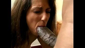 Mr 18 cock - Mr. 18 inch gets his black saber sucked by latin milf
